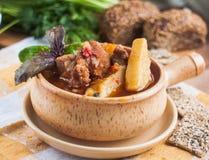 De soep van het vlees stock afbeelding