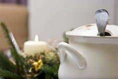 De soep van Kerstmis stock fotografie