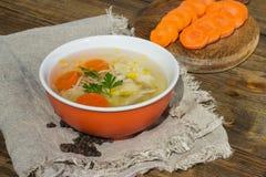 De soep van de kip royalty-vrije stock foto's