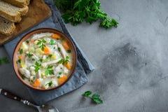 De soep van de kip royalty-vrije stock fotografie