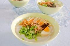 De Soep van rijstnoedels Stock Foto