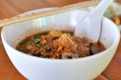 De soep van Tom yum, hete en zure soep Stock Foto