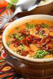 De soep van tomaten royalty-vrije stock afbeelding