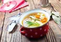 De soep van vissen stock fotografie