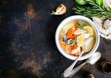 De soep van vissen royalty-vrije stock foto's