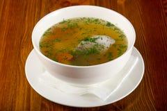 De soep van vissen met forel royalty-vrije stock foto's