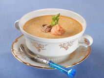 De soep van vissen met zeevruchten Stock Foto