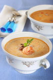 De soep van vissen met zeevruchten Royalty-vrije Stock Afbeeldingen