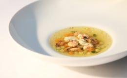De soep van zeevruchten Stock Foto's
