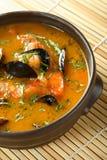 De soep van zeevruchten Stock Afbeelding