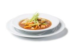 De soep van zeevruchten royalty-vrije stock fotografie