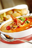 De soep van zeevruchten Royalty-vrije Stock Afbeelding