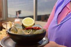 De soep van zeevruchten Royalty-vrije Stock Foto's