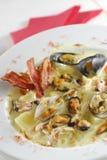 De soep van zeevruchten Stock Fotografie