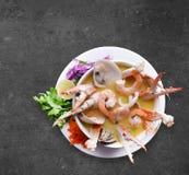 De Soep van zeevruchten stock foto