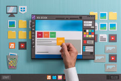 De software van het Webontwerp royalty-vrije stock afbeelding