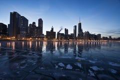 or de soirée de côte de Chicago Images stock