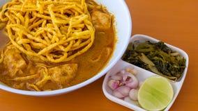 De soja van Khao, een lokaal voedsel in Chiangrai Royalty-vrije Stock Foto's