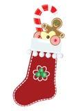 De sok van Kerstmis Stock Afbeeldingen