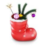 De sok van Kerstmis met giften het 3d teruggeven vector illustratie