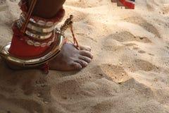 De Sokjes van Theyyam Stock Afbeeldingen