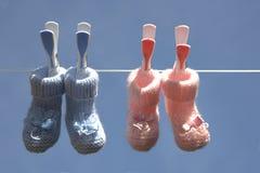 De sokken van de baby Royalty-vrije Stock Foto's