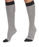 De sokken van de vrouw met strepen royalty-vrije stock fotografie