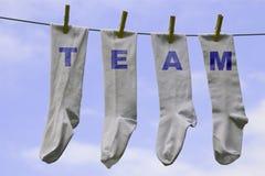 De sokken van het team Stock Afbeelding