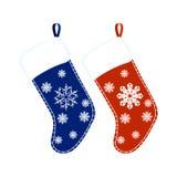 De sokken van Kerstmis vector illustratie
