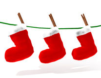 De sokken van Kerstmis Stock Foto