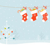 De sokken van Kerstmis royalty-vrije illustratie