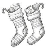 De sokken van Kerstmis Stock Foto's