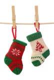 De sokken van Kerstmis royalty-vrije stock fotografie