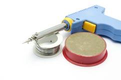 De solderende draad van het ijzer solderen-ijzer Stock Afbeelding