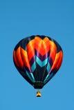 De solitaire Ballon van de Hete Lucht Stock Afbeelding