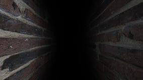 De sombere gang Donker en somber, volledig van geheimen, de gang vector illustratie