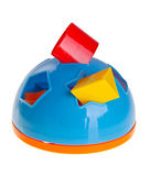 De Sorteerder van de vorm Het stuk speelgoed van Childs vormsorteerder op een achtergrond Royalty-vrije Stock Afbeelding