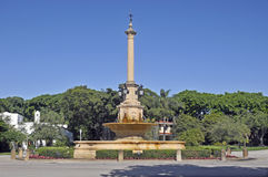 De Soto Plaza & Fountain Royalty Free Stock Photo