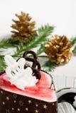 De soufflécake van de framboos Royalty-vrije Stock Fotografie