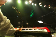 De Souled desempenho vivo para fora (faixa) no partido de fechamento 56th Thessal Imagem de Stock Royalty Free