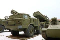 De sovjet en Russische militaire technieken. Stock Afbeeldingen