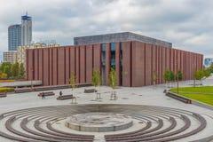 De sovjetarchitectuur van Katowice, Polen stock afbeelding