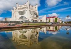 De Sovjetstijl Grodno, Wit-Rusland royalty-vrije stock afbeeldingen