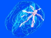 De spaander van hersenen Stock Fotografie