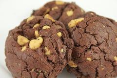 De Spaanderkoekjes van de chocoladePindakaas Stock Foto's