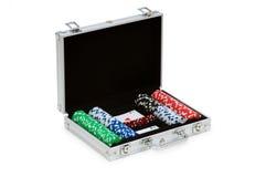 De spaanders en de kaarten van het casino royalty-vrije stock afbeeldingen