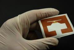 De spaanders en de markeringen van RFID stock foto