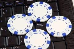 De spaanders van de pook op toetsenbord Royalty-vrije Stock Afbeelding