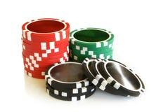 De spaanders van het casino Stock Afbeelding