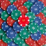 De spaanders van het casino Royalty-vrije Stock Foto's